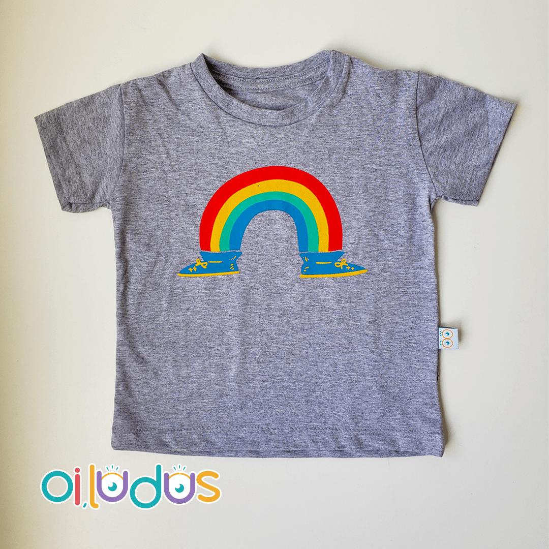 Camiseta Infantil Manga Curta - Arco Íris Andarilho