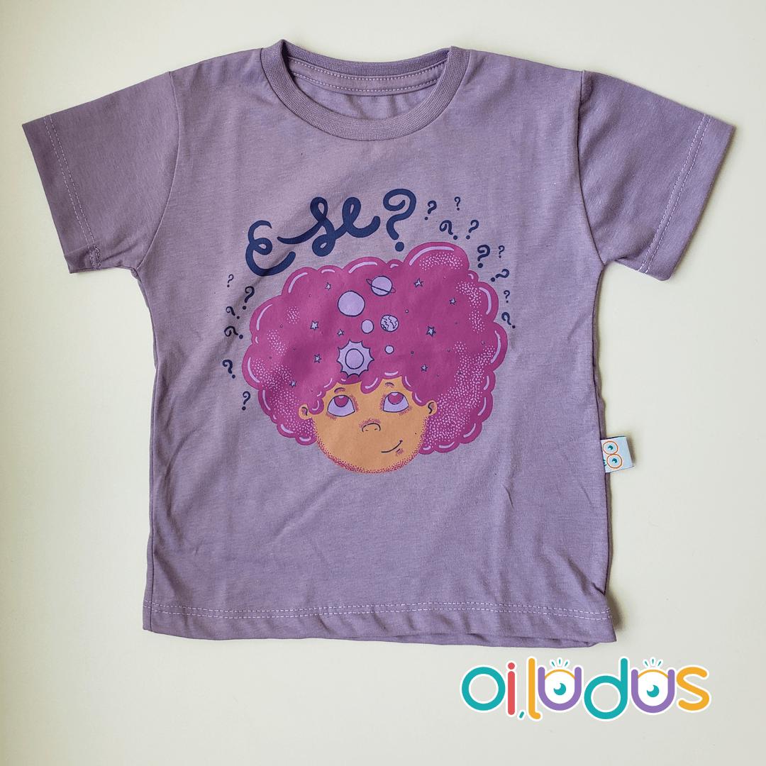 Camiseta Infantil Manga Curta - E se?