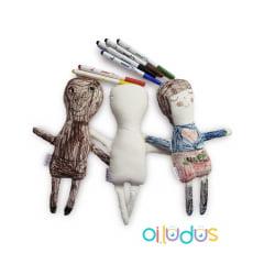 Kit dois bonecos para pintar