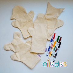 Fantoches para pintar (Kit)